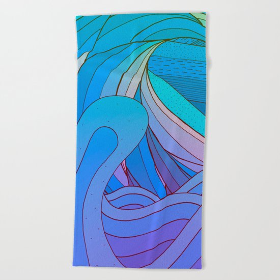 Wave after wave Beach Towel