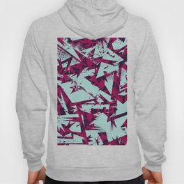 Abstract urban backdrop with curved geomtry seamless pattern and grunge spots in street style Hoody