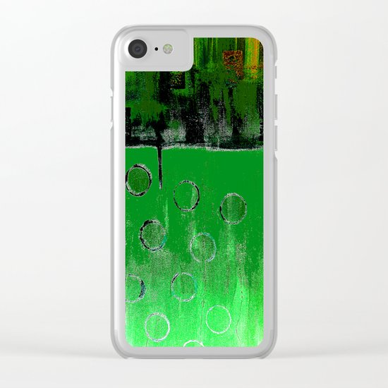 EMERALD GREEN FOREST Clear iPhone Case