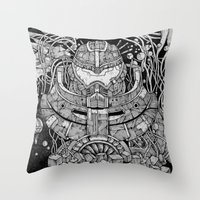 pacific rim Throw Pillows featuring Pacific Rim by Walid Aziz