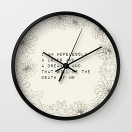i am hopelessly a lover - R. Kaur Collection Wall Clock