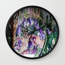 Blue Bell Forest Wall Clock