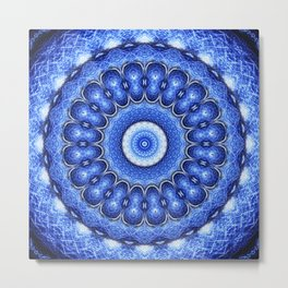 Ocean Mandala Metal Print