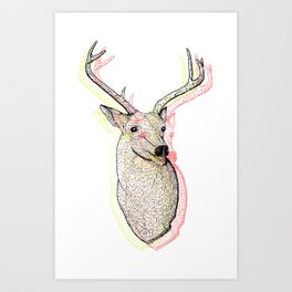 Deer Plague Art Print