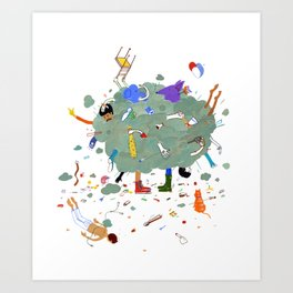 Fight Cloud Art Print