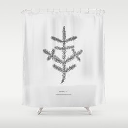 Spruce twig Shower Curtain