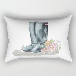 Spring Rain Boots Rectangular Pillow