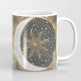Elegant Gold Doodles Sun Moon Mandala Design Coffee Mug