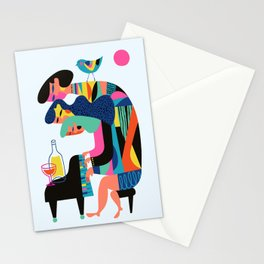 The Planists (Blue version) Stationery Cards