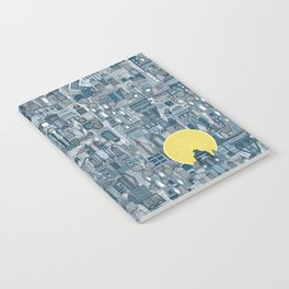 space city sun blue Notebook