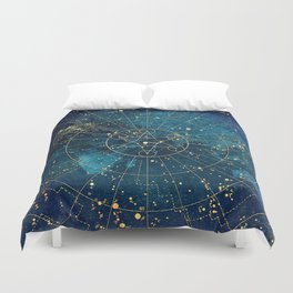 Star Map :: City Lights Duvet Cover