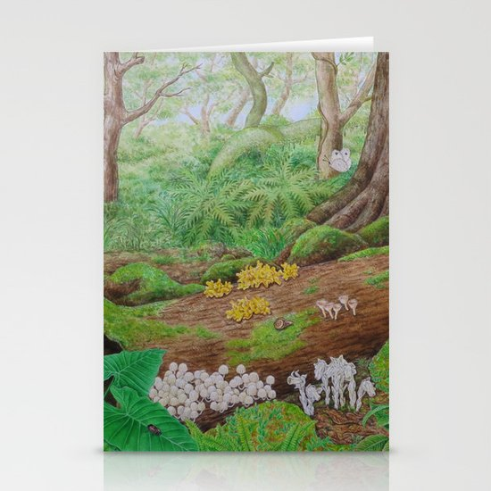 A Day of Forest (5). (dead wood ecosystem) Stationery Cards