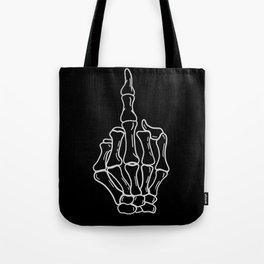 Fuck You | Skeleton Middle Finger Tote Bag