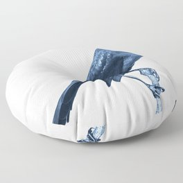In the middle of nowhere: now, here Floor Pillow