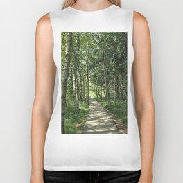 walk in the bog Biker Tank