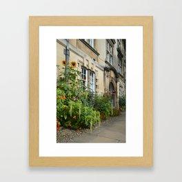 Flower Gardens at Christs College, Cambridge Framed Art Print