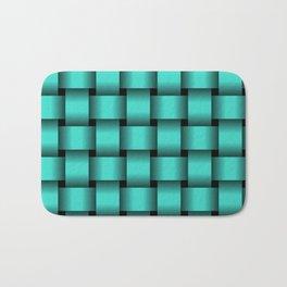 Large Turquoise Weave Bath Mat