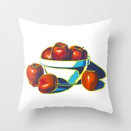 Deez Apples Throw Pillow