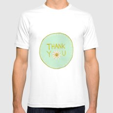 Thank You White MEDIUM Mens Fitted Tee
