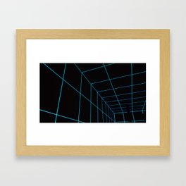 Blue Lines Framed Art Print