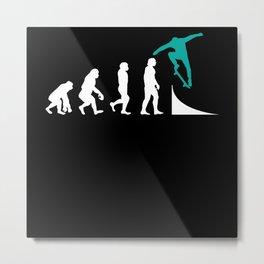 Skater Skateboard Skateboarder Evolution Metal Print