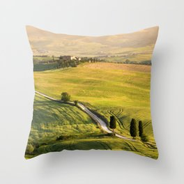 Gladiator road in Tuscany Throw Pillow