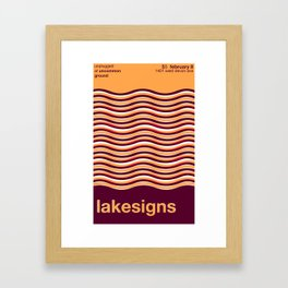 Lakesigns Poster - Uncommon Ground 2-8-2012 Framed Art Print