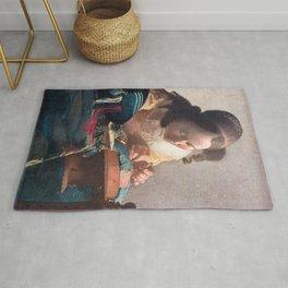 Johannes Vermeer - The lacemaker Rug