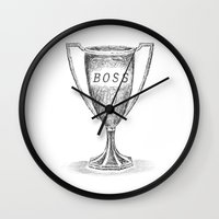 boss Wall Clocks featuring boss by Miranda J. Friedman