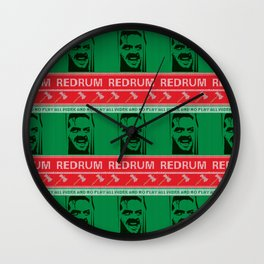 All work and no play Ugly Christmas Sweater Wall Clock