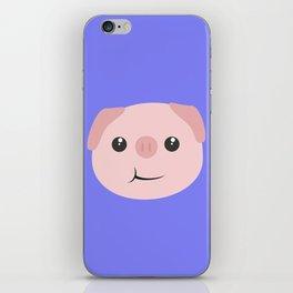 Cute chewing kawaii piggy iPhone Skin