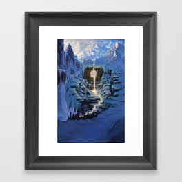 Temple of Snow Framed Art Print