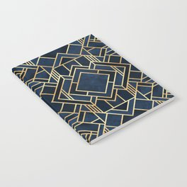 Art Deco Fancy Blue Notebook