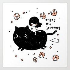 enjoy the journey Art Print