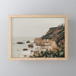 coastline / malibu, ca Framed Mini Art Print