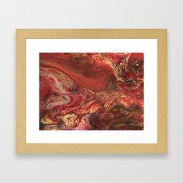Acrylic Pour #42 Framed Art Print
