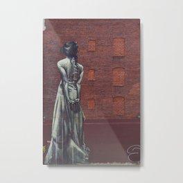 Holding the Infinite Wall Mural Graffiti Victorian Woman Dress Lady Gothic Portland Metal Print