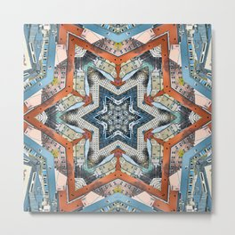 Abstract Geometric Structures Metal Print