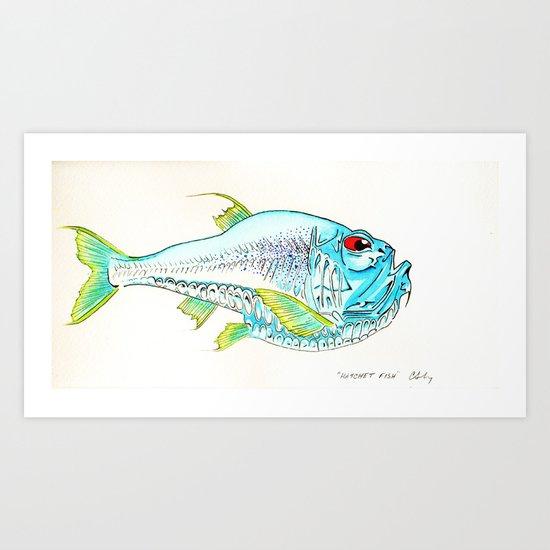 Hatchet Fish Art Print