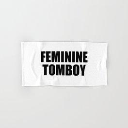 Feminine Tomboy Hand & Bath Towel