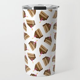Happy Birthday Piece of Cake & Candle Travel Mug