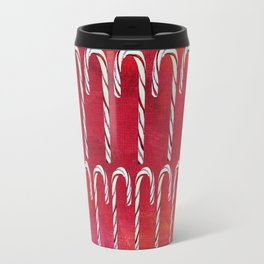 Candy Canes (red) Travel Mug