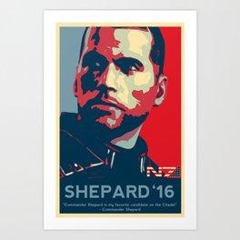 Shepard '16 - Mass Effect Art Print