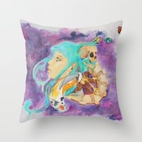 health Throw Pillows featuring Mental Health by Symbiosis