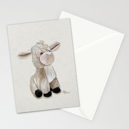 Cuddly Donkey Watercolor Stationery Cards