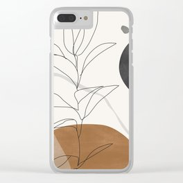 Abstract Art /Minimal Plant Clear iPhone Case
