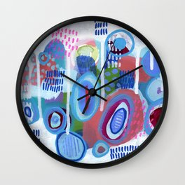 Abstract Drips Wall Clock