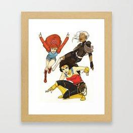 Heroines Redesign Framed Art Print