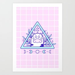 Witchy Cat Paw 03 Art Print
