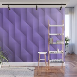 Gradient Purple Diamonds Geometric Shapes Wall Mural